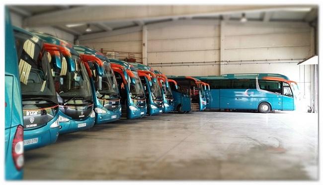 Nuestra flota de autobuses en bilbao